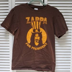 Tops - *4/$20*  Frank Zappa for President T-shirt small